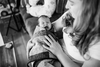 Lifestyle Newborn Session in Creede Colorado