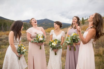 J Bridesmaids Pastel Dresses