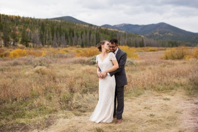 Q sweet wedding kiss South Fork Colorado