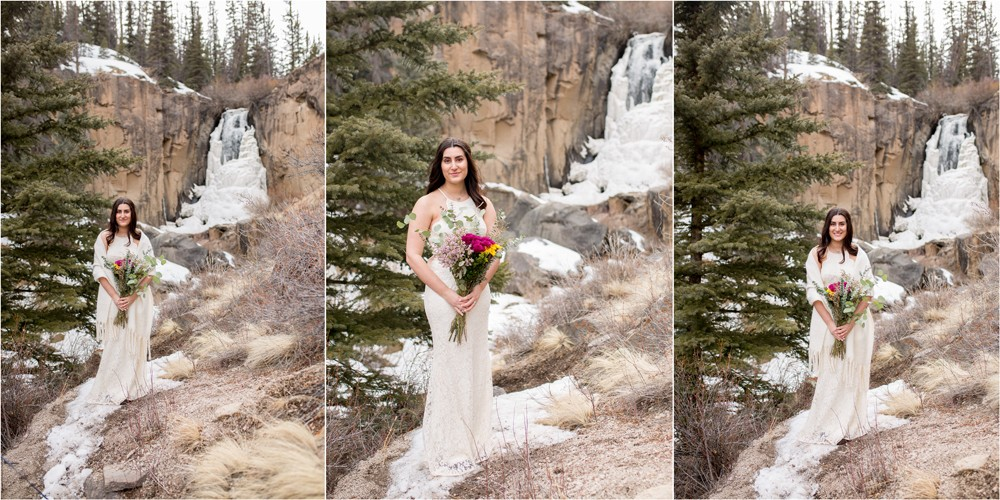 10 Beautiful Bride at South Clear Creede Falls in Creede