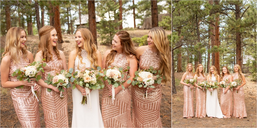 05 Bride  Bridesmaids  Sparkly Dresses  chic  pink