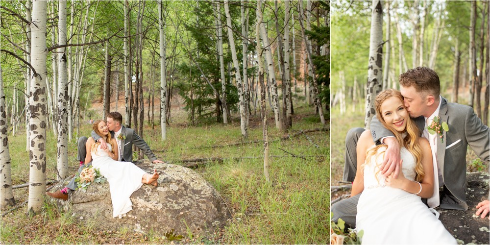 12 IN the Aspens  Bride and Groom   South Fork Wedding
