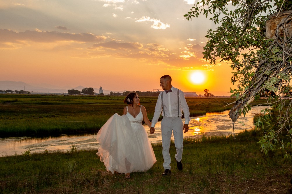 14 Sunset  Bride and Groom