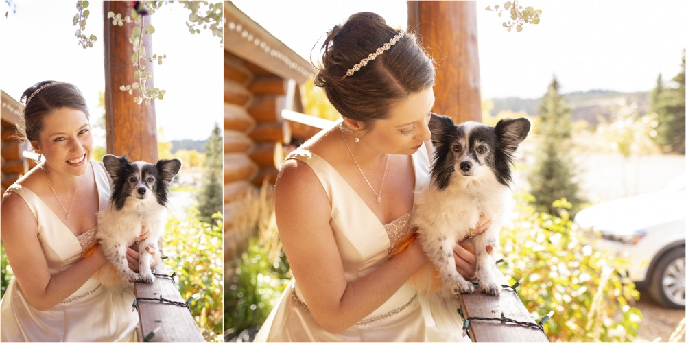 02 Bride with her sweet pup  South Fork Wedding