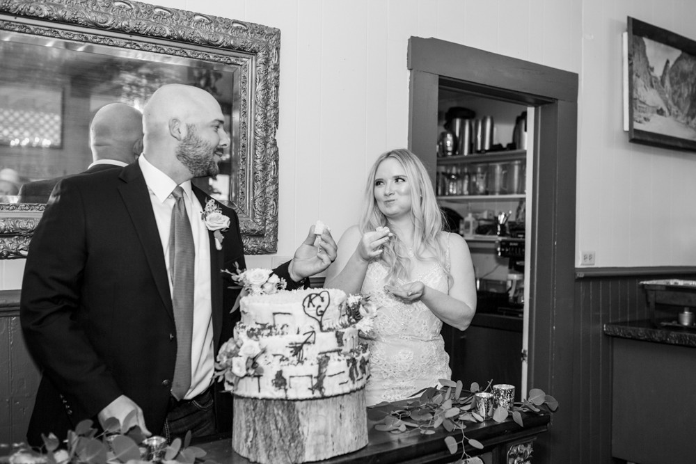 12  Cutting the Cake at the Creede Hotel   Reception