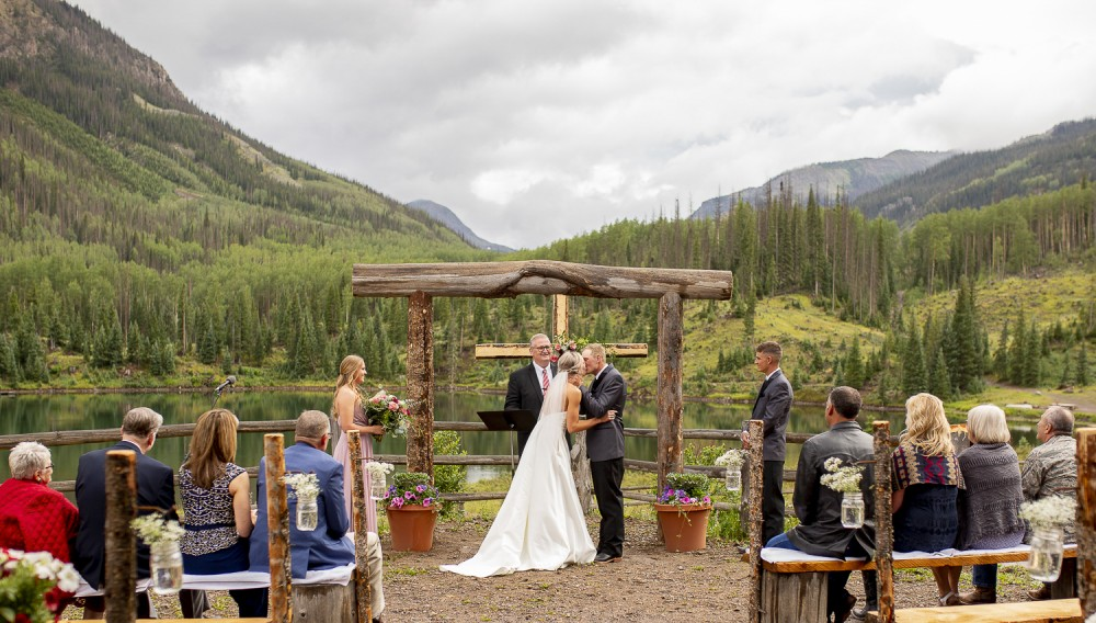 06  First Kiss  Wedding In Creede Co