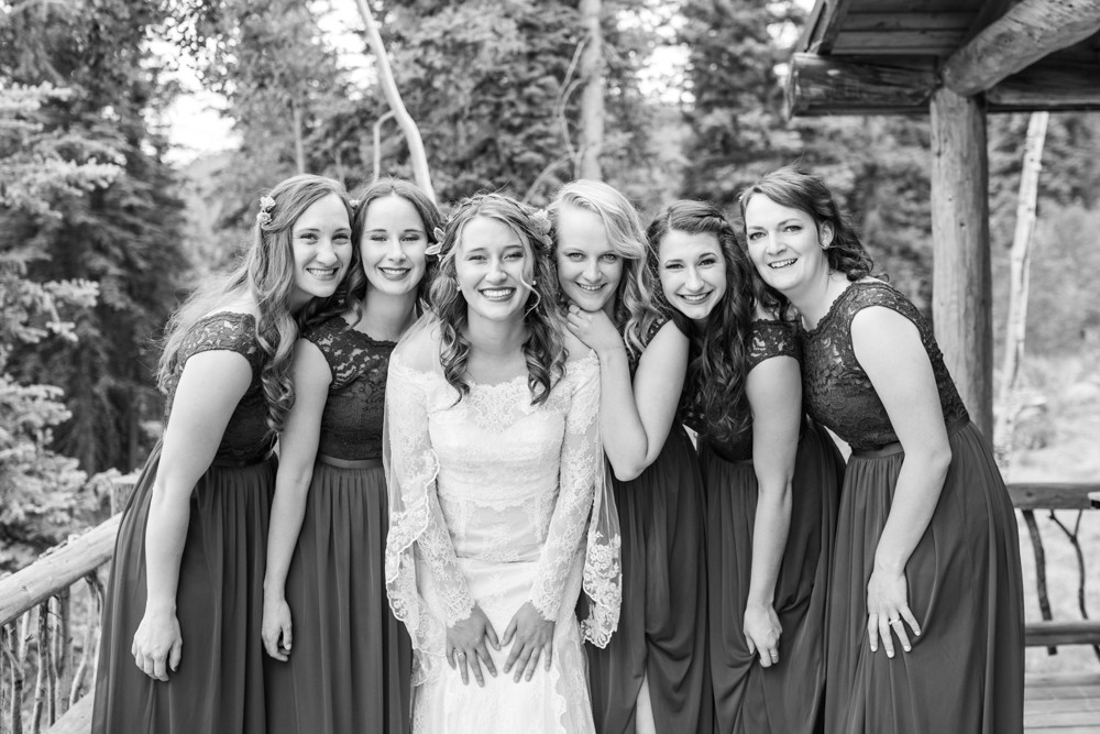12 stunning bride and her maids