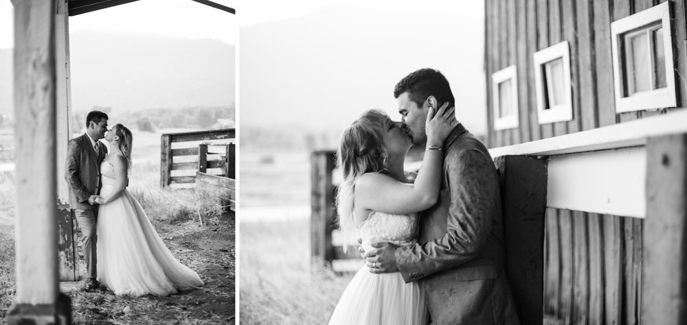 07 wedding san luis valley barn kiss